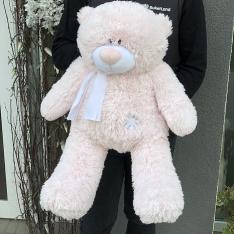 М'яка іграшка «Ведмедик Тедді» 70 см (рожевий) фото