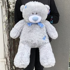 М'яка іграшка «Ведмедик Тедді» 70 см (сірий) фото