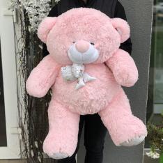 М'яка іграшка «Ведмедик Зефір» 100 см (рожевий) фото