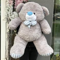 М'яка іграшка «Ведмедик Зефір» 120 см (сірий) фото