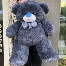 М'яка іграшка «Ведмедик Зефір» 120 см (синій) фото