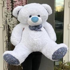 Мягкая игрушка «Мишка Зефир» 150 см (белый) фото
