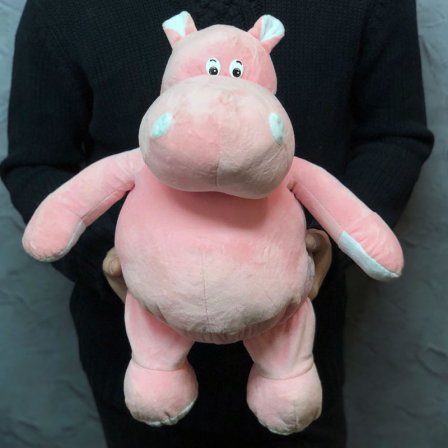Мягкая игрушка «Розовый бегемотик» фото