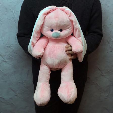Мягкая игрушка «Розовый зайчик» фото
