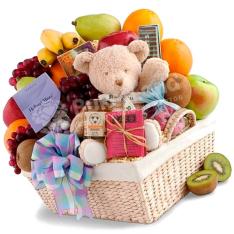Подарочная корзина «С игрушкой» фото