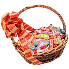 Подарочная корзина «Сладкий микс» фото