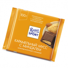 Milk chocolate Ritter Sport Caramel mousse with almond 100g photo
