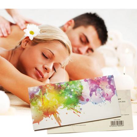 Подарочный сертификат на Расслабляющий массаж для двоих фото