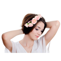 Jewelery for hair from natural flowers