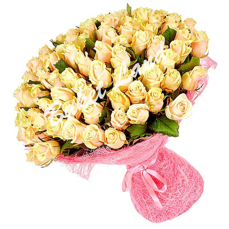 101 роза Талея 60 см