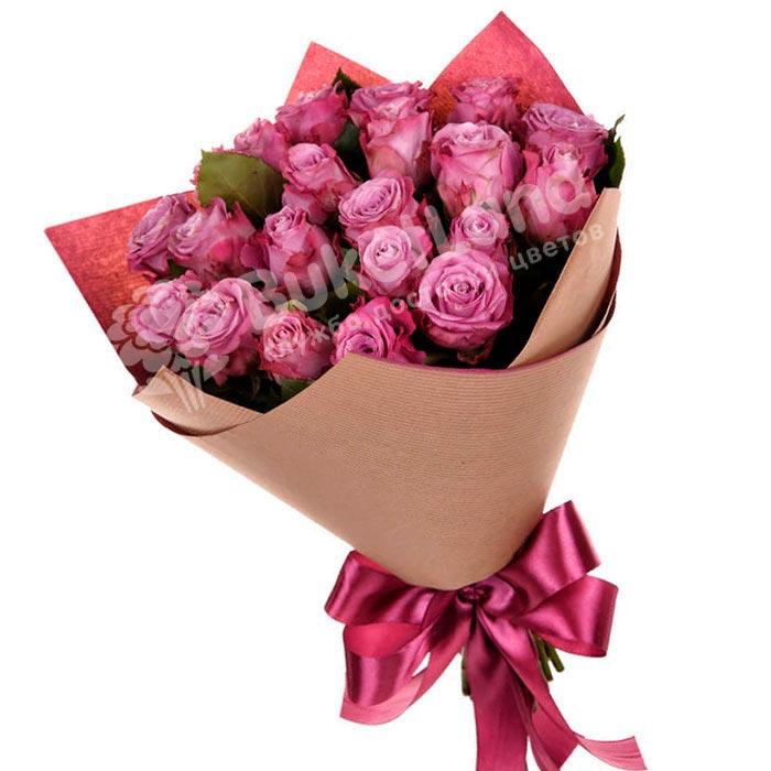 21 эквадорская роза 60 см в ассортименте