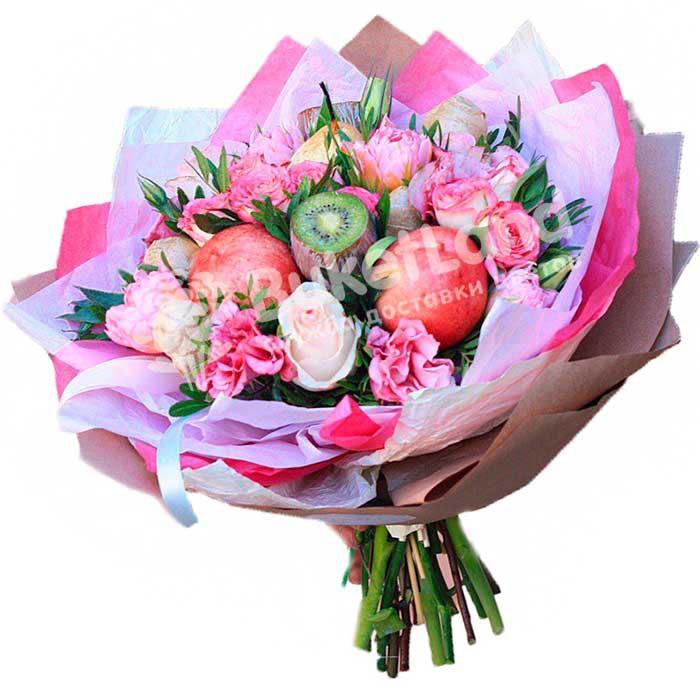 Букет из фруктов и цветов «Эмилия» | размер L