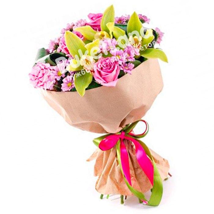Букет из орхидей «Утренняя свежесть»