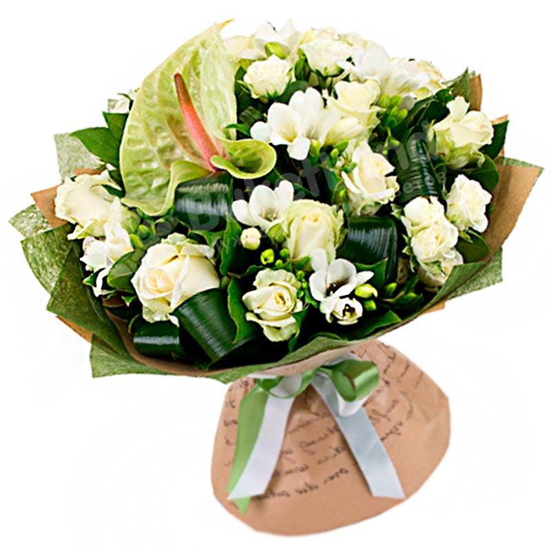 Букет цветов «Белоснежка»
