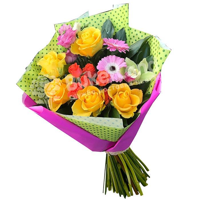Букет цветов «Фламинго»