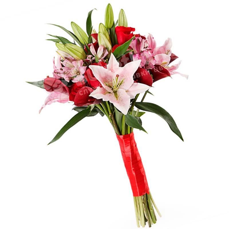 Букет цветов «Любящее сердце»