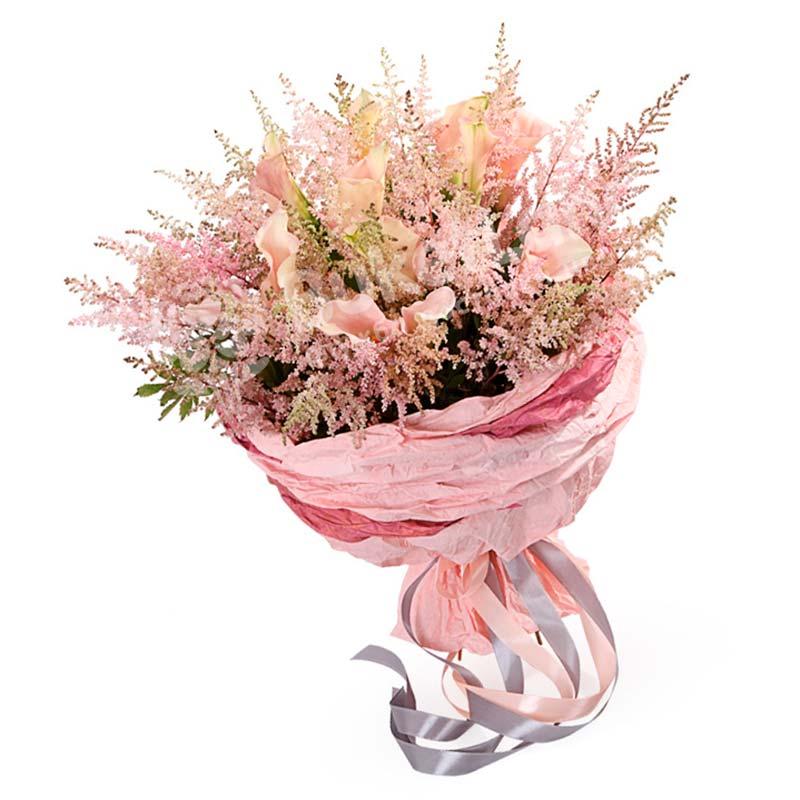Букет цветов «Румянец»