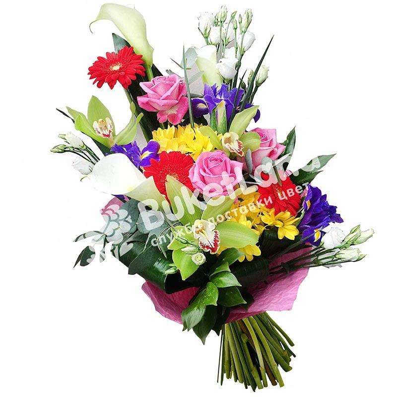 Букет цветов «Яркая любовь»