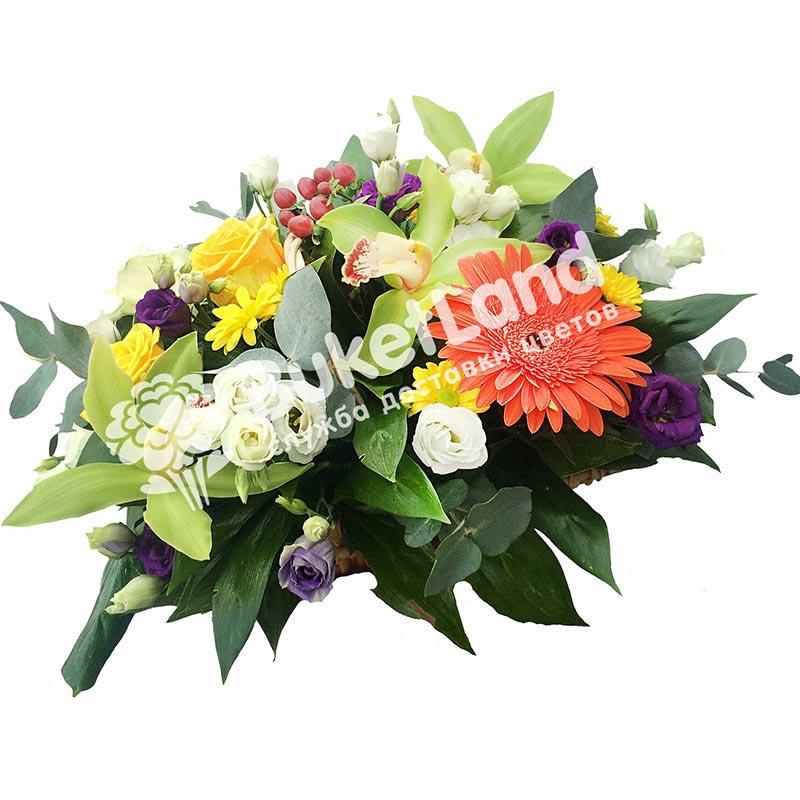 Композиция с цветами «Красочный фонтан»