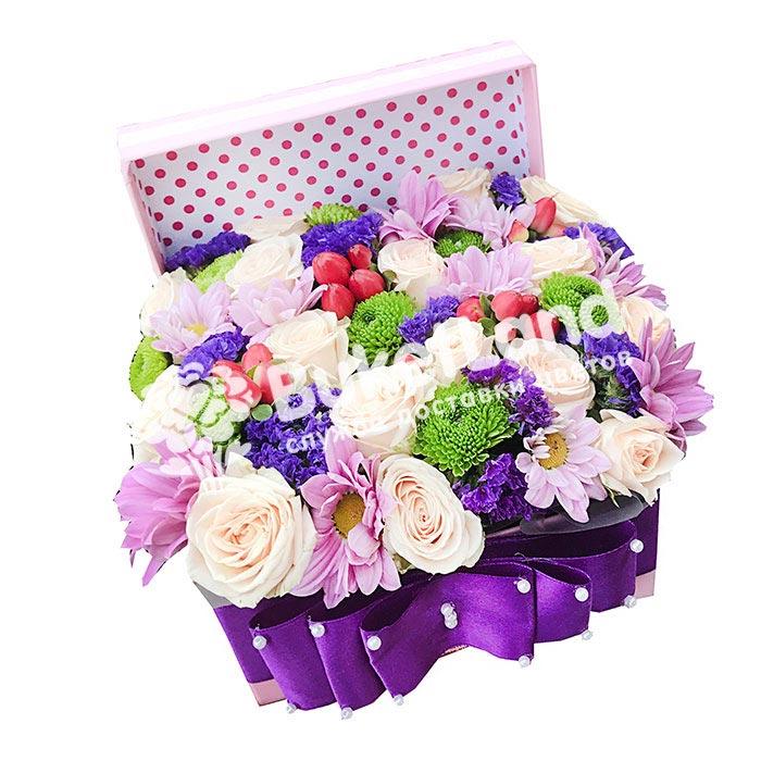 Коробка с цветами 1 | размер S