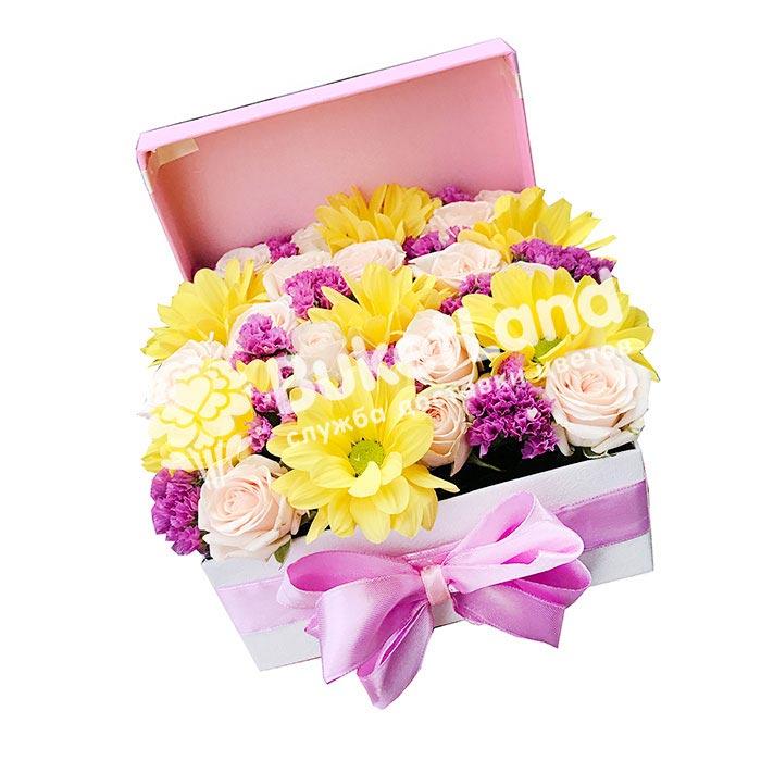Коробка с цветами 2 | размер S