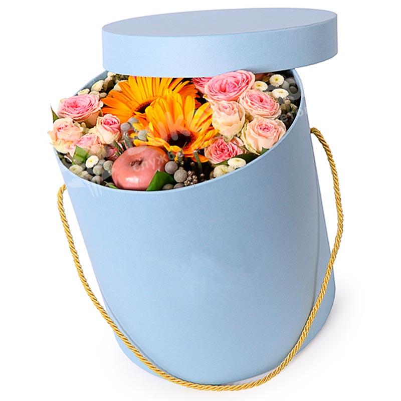 Цветы в коробке «Секрет чародейки»