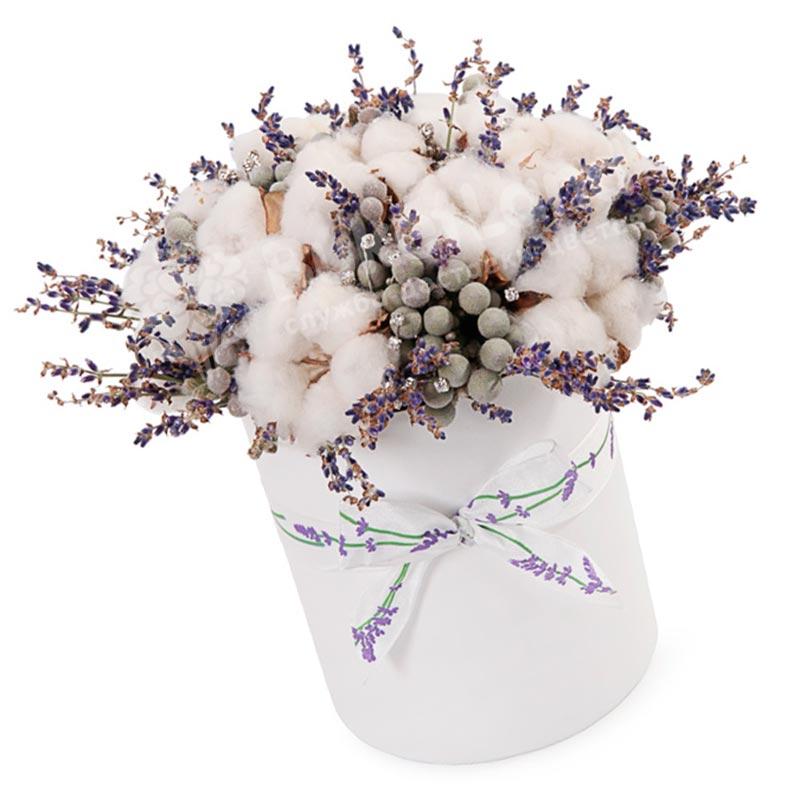 Цветы в коробке «Зимний след»