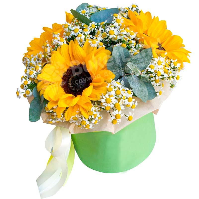 Цветы в шляпной коробке «Летние воспоминания»