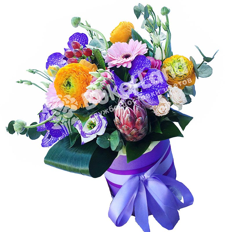 Цветы в шляпной коробке «Перевоплощение»