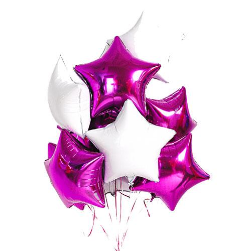 11 фигурных фольгированных гелиевых шариков микс