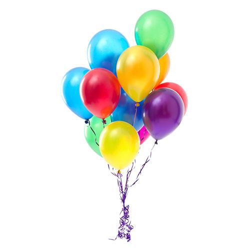 11 разноцветных гелиевых шариков