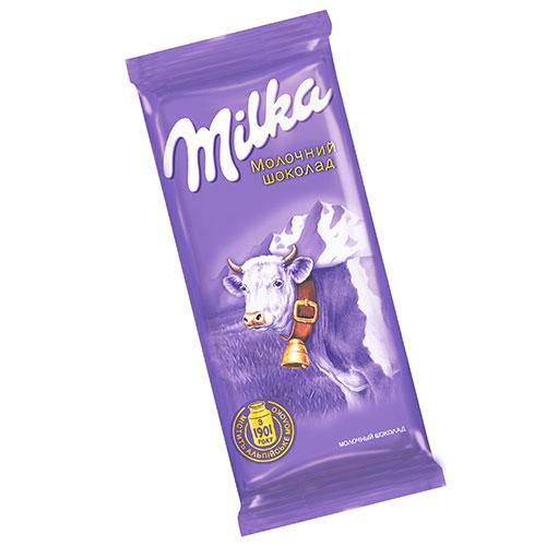 Шоколад Milka молочный без добавок 90г