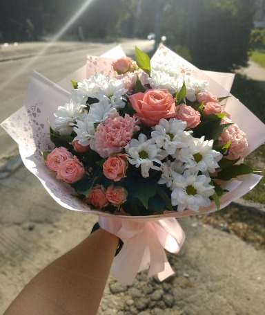 Photo delivery of an inexpensive bouquet in Chernihiv