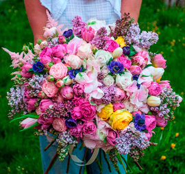 фото цветов больших букетов